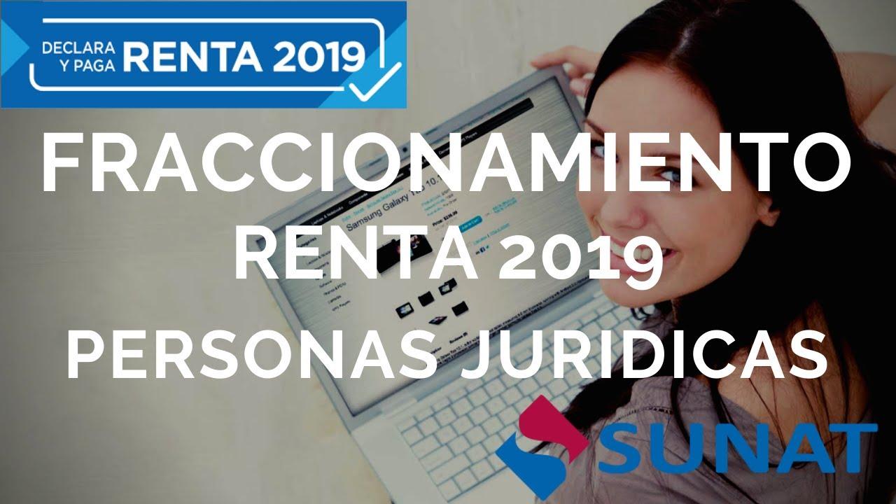 Tutorial solicitud de fraccionamiento renta 2019 Personas Juridicas
