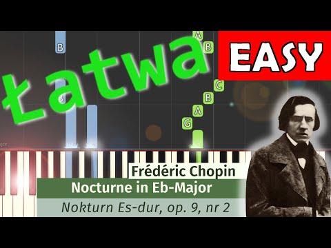 🎹 Nokturn Op. 9 nr 2 (F. Chopin) - Piano Tutorial (łatwa wersja) (EASY) 🎹