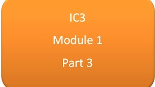practice questions on ic3 exam module 1 3 3