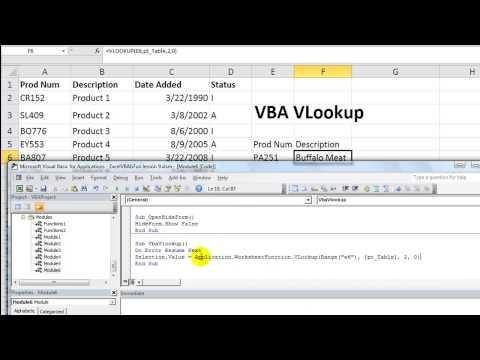 Excel VBA Basics #19 Using VLOOKUP In VBA - Alternate Method