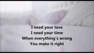 I Need Your Love - Calvin Harris (feat. Ellis Goulding) [Lyrics on screen]