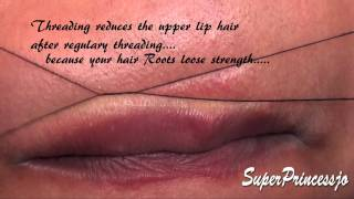 UpperLip Threading Tutorial ,facial hair removal at home chemical Free ,easy simple free method