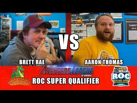 Heroclix Brett Rae vs Aaron Thomas  ROC Super Qualifier