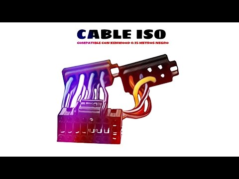 Video de Cable de audio ISO compatible con Kenwood 0.15 M Negro