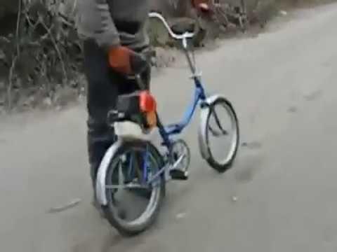 Bici Con Motore Decespugliatore Viaggia Come Un Garelli Vip 3