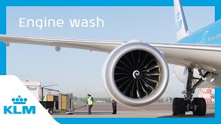 How sustainable is the way we clean our jet engines? - KLM