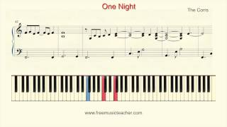 "How To Play Piano: The Corrs ""One Night"" Piano Tutorial by Ramin Yousefi"