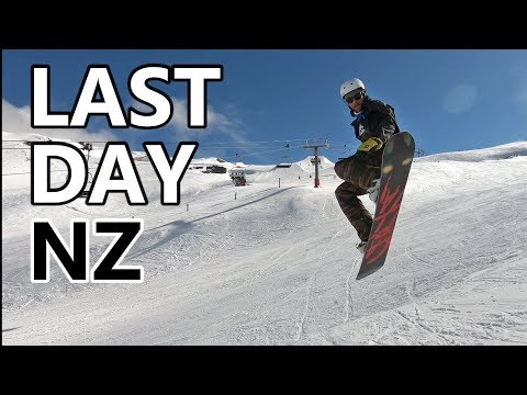 Last Day Snowboarding in New Zealand