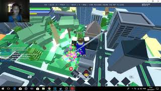 I turned 1 super hero (Roblox with friends)