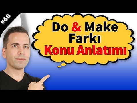 Make & Do Farkı Konu Anlatımı #68