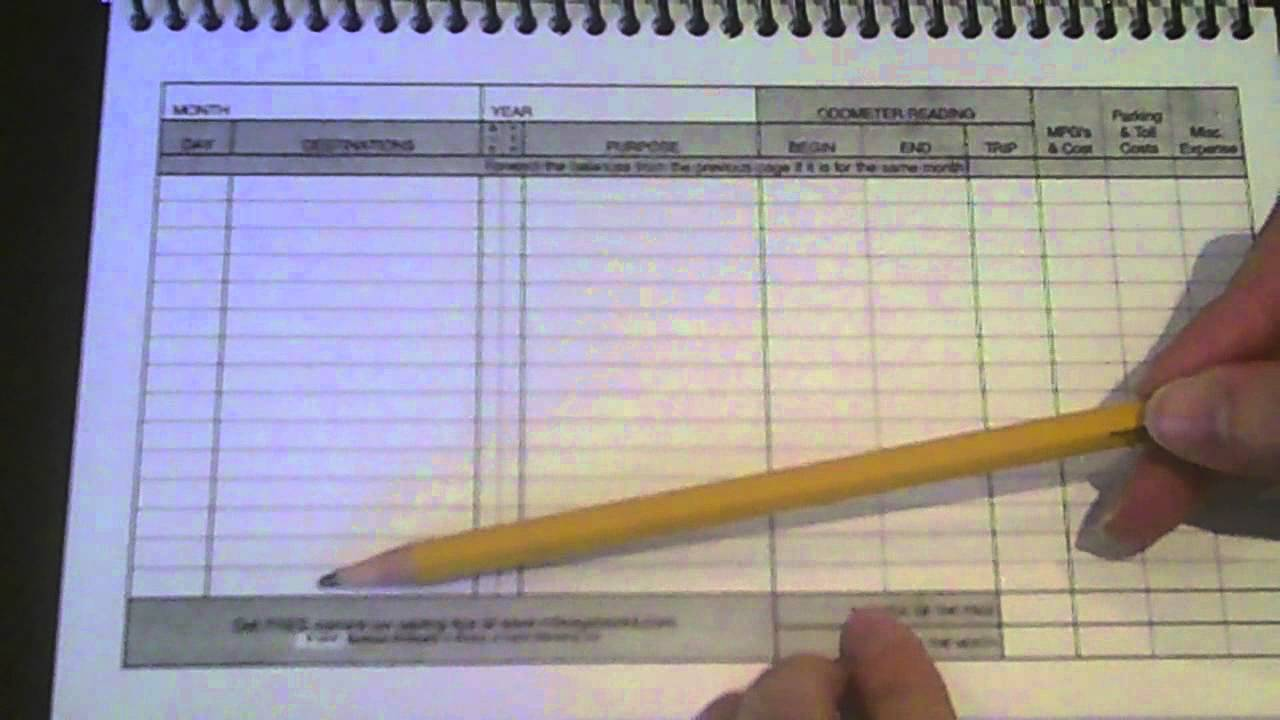 mileage log book youtube