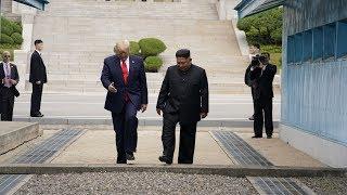 트럼프 대통령 판문점에서 김정은 위원장 만남