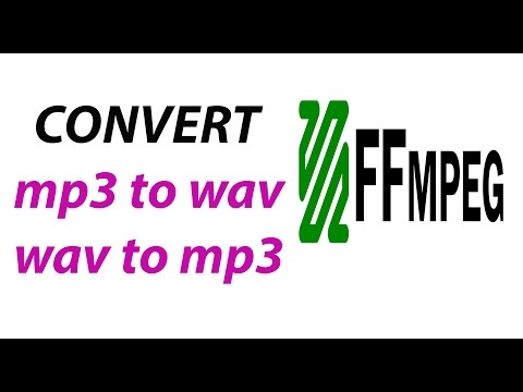 Convert Mp3 To Wav Or Wav To Mp3 Using ffmpeg