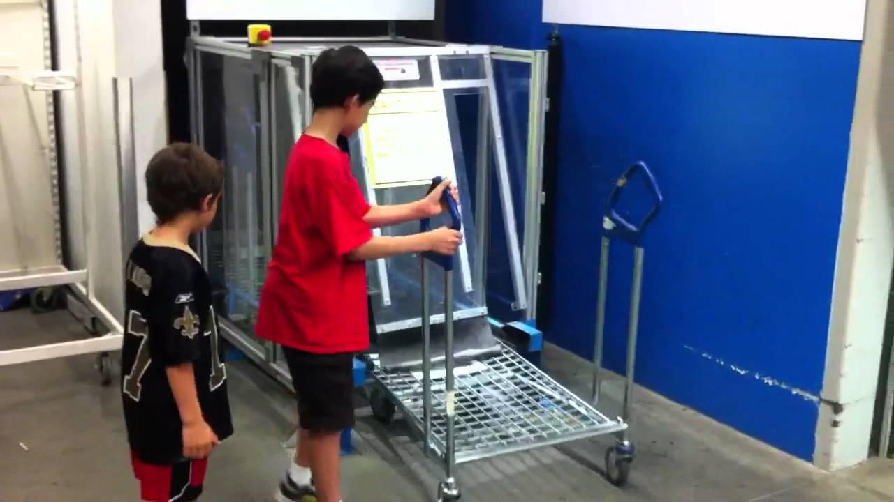 Ikea Auto Feed Flat Pack Shopping Cart Machine Youtube
