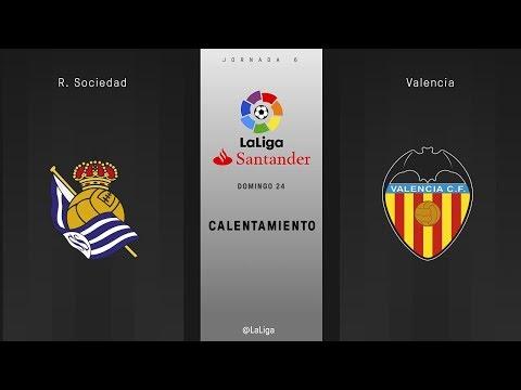 Calentamiento R. Sociedad vs Valencia