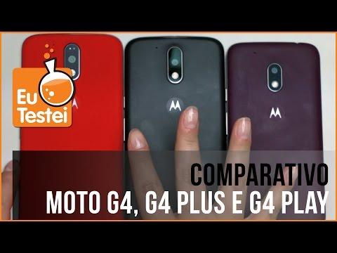 Todos os Moto G 4 Comparados! Qual você escolhe? - Vídeo Comparativo EuTestei