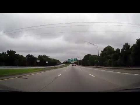 Driving from Interstate 95 through Savannah, Georgia to Old Fort Jackson
