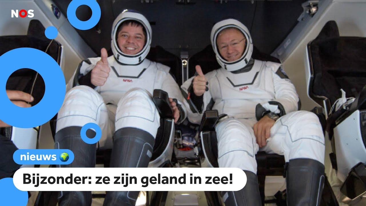 Astronauten van SpaceX geland op aarde