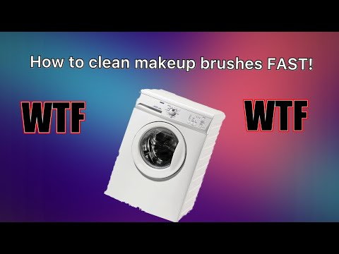 How to clean makeup brushes in the washing machine!
