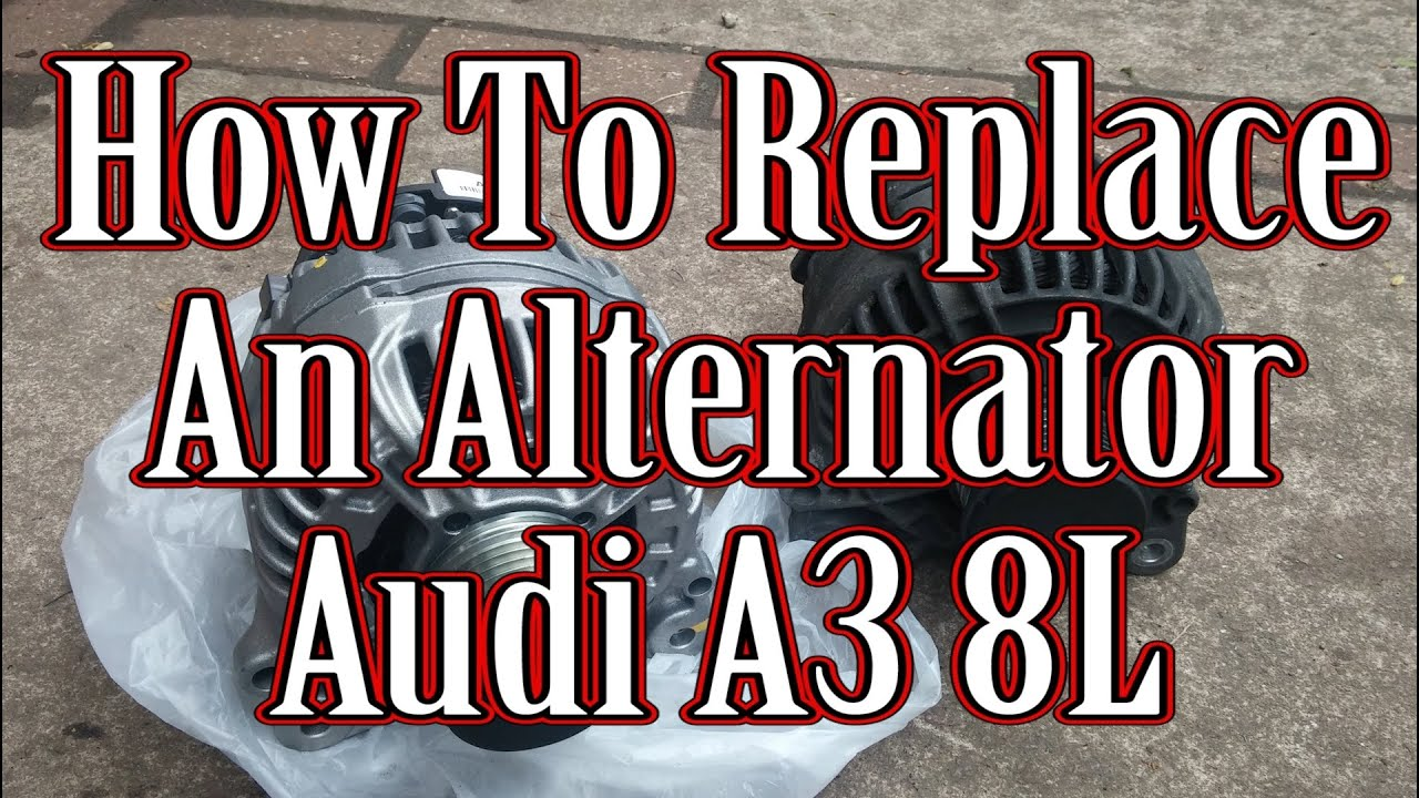 How To Replace The Alternator On An Audi A3 8l Youtube Lima Generator Wiring Diagram