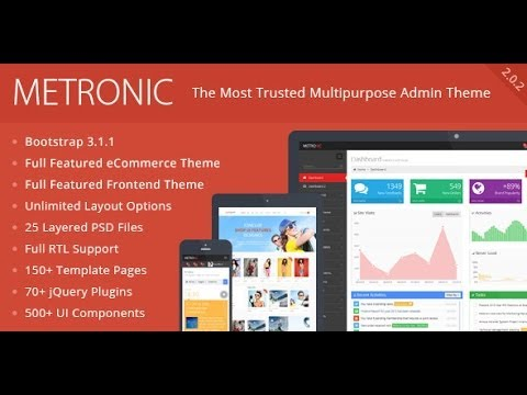 Download the \'Metronic\' Responsive Admin Dashboard Template / Theme ...