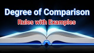 Degree of Comparison Sentences, Rules and Examples - English Sikho