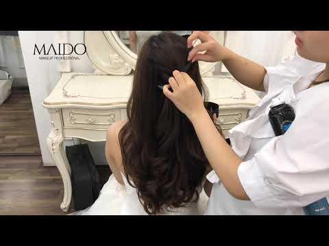 Hướng dẫn kiểu tóc xoăn thả nhẹ xinh như công chúa dành cho cô dâu trong ngày cưới - Mai Đỗ Makeup