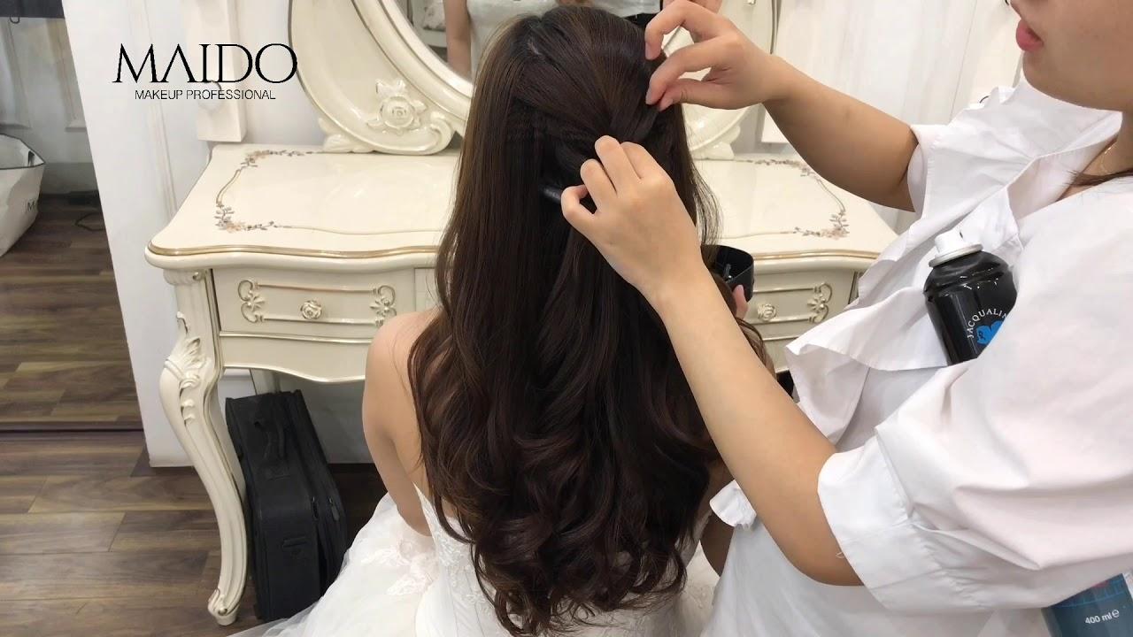Hướng dẫn kiểu tóc xoăn thả nhẹ xinh như công chúa dành cho cô dâu trong ngày cưới – Mai Đỗ Makeup   Tóm tắt những thông tin về những kiểu tóc đen đẹp cho nữ đầy đủ