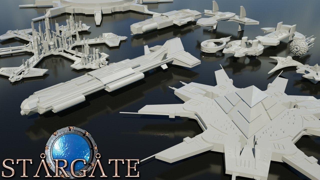 Starships Size Comparison Stargate