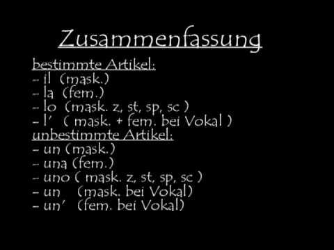 Italienisch Lernen 1 Youtube