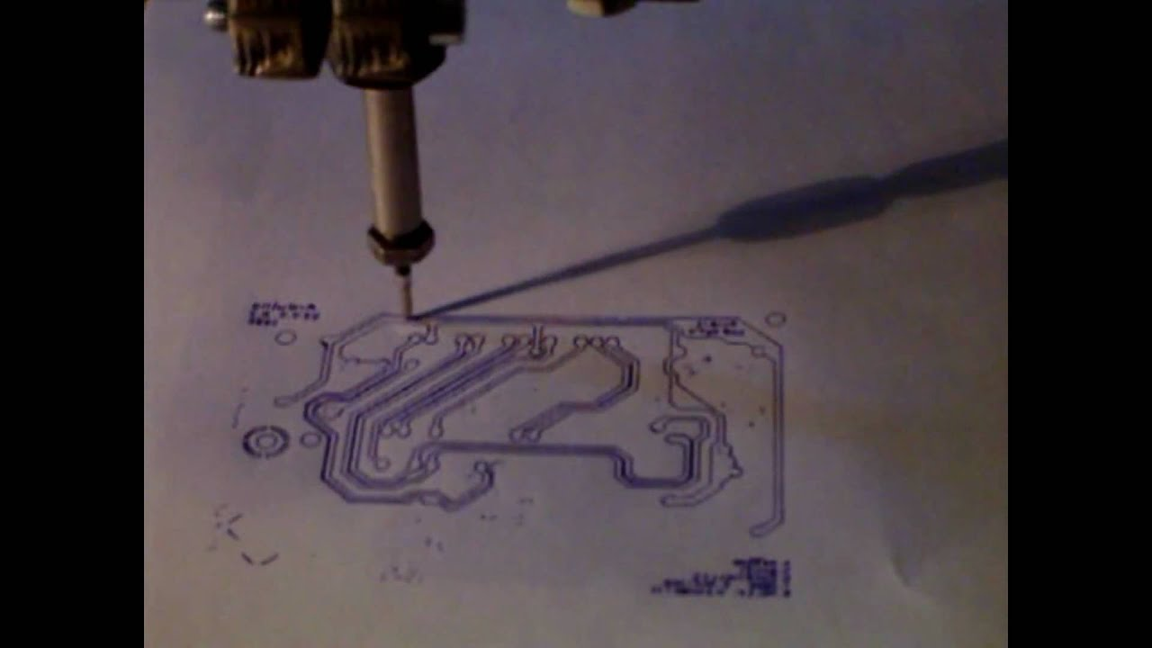 pcb drawing with cnc - YouTube