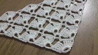 Tığişi örgü gelin şalı modeli yapımı, Üçgen şal, boyunluk modeli & Crochet doily