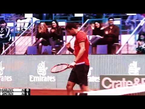 Grigor Dimitrov vs Ivo Karlovic - Istanbul 2016 Highlights [HD]