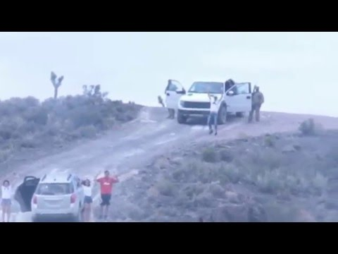 FAMILY NEARLY KILLED IN AREA 51 MARCH 2016 FOR TRESPASSING