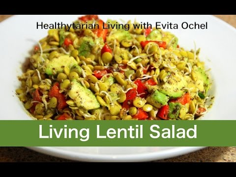 Living Lentil Salad Recipe (whole food vegan, oil-free)