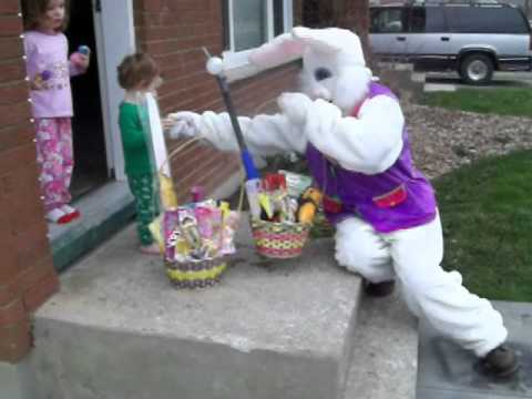 Easter Bunny Comes To Visit