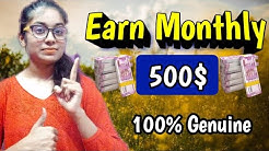 Earn Monthly 500$ | Full Time Work Genuine Website 2020 || Paypal Earning |