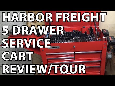 Harbor Freight 5 Drawer Service Cart Review & Tour