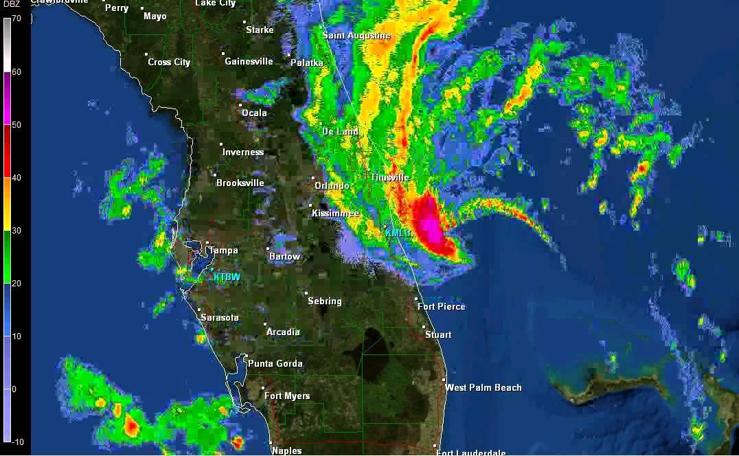 Invest 93 Radar Form Melbourne Florida Youtube