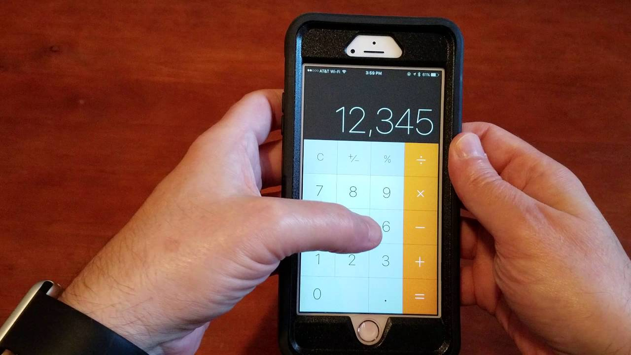 How to erase just one number on the iPhone calculator