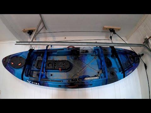 Kayak Storage | Installing a Garage Ceiling Hoist | DIY