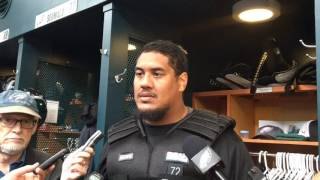 Eagles RT Halapoulivaati Vaitai discusses performance in first two starts