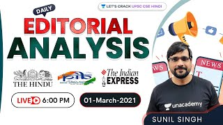 Today's Current Affairs \u0026 Editorial Analysis | 1st March 2021 | The Hindu/Indian Express/PIB | 2021