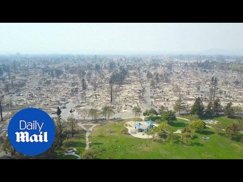 Shocking drone video shows Santa Rosa's devastation from wildfire - Daily Mail