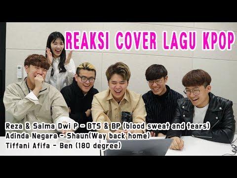 REAKSI MAHASISWA KOREA MENDENGARKAN COVER LAGU KPOP (BTS&Black Pink, Shaun, Ben)