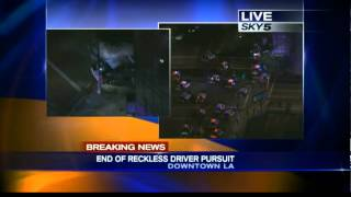 LA CHASE ended with a dead driver!