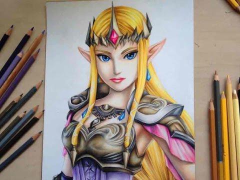 drawing-princess-zelda-from-the-legend-of-zelda---hyrule-warriors