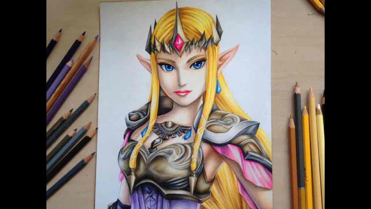 drawing princess zelda from the legend of zelda hyrule warriors