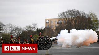 Gun salutes mark the death of Prince Philip - BBC News