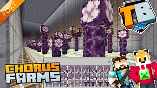 CHORUS FARMS | Truly Bedrock Season 1 [87] | Minecraft Bedrock Edition 1.14 SMP